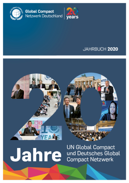 Cover Jahrbuch Global Compact Deutschland 2020